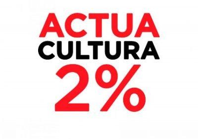 Actua Cultura 2%: un crit per la cultura. Dilluns 9 de març a les 16h a la Plaça del Rei de Barcelona!